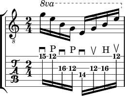e minor up and down