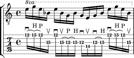 longer string skipping arpeggio