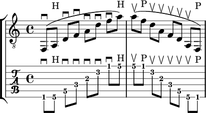 d minor sweep